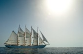 Tall ship Creoula sailing