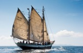 Tall ship Tecla sailing
