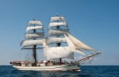 Tall ship Astrid sailing