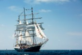 Tall ship Tenacious sailing