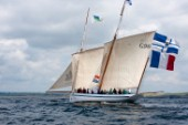 Tall ship La Granvillaise sailing