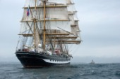 Tall ship Kruzenshtern sailing