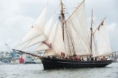Tall ship Bessie Ellen sailing