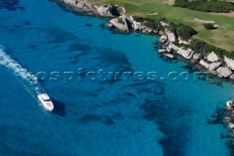 MOTOR YACHT IN SOUTH CORSICA PERFECT BEACH BLUE DREAM