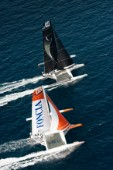MARSEILLE,FRANCE, SEPTEMBER 29TH 2012 : MOD70s fleet during the Marseille City Races of the MOD70 European Tour.