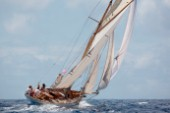 Thalia sailing in the 2008 Antigua Classic Yacht Regatta, Antigua, British West Indies