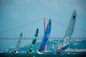 AUDI MEDCUP CIRCUIT, CASCAIS, PORTUGAL, MAY 21ST 2011: Day 4 - TP52 Coastal Race. Synergy (RUS), Quantum (USA),