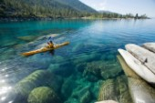 Kayaking near Sand Harbor on Lake Tahoe, Nevada, United States.    MR# 064 Matt Waskiewiez