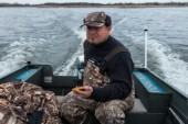 Duck hunting on Muskego Lake in southern Wisconsin.