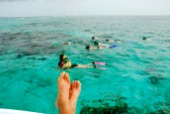 Snorkeling in Belize central america. ( CIA Productions / Aurora Photos )